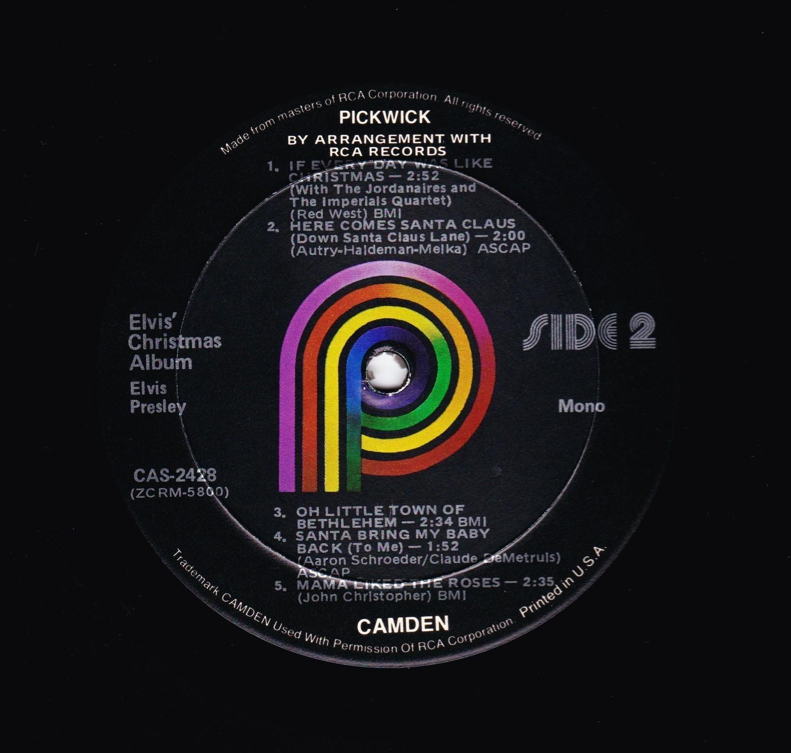 CAS 2428 P ELVIS CHRISTMAS ALBUM