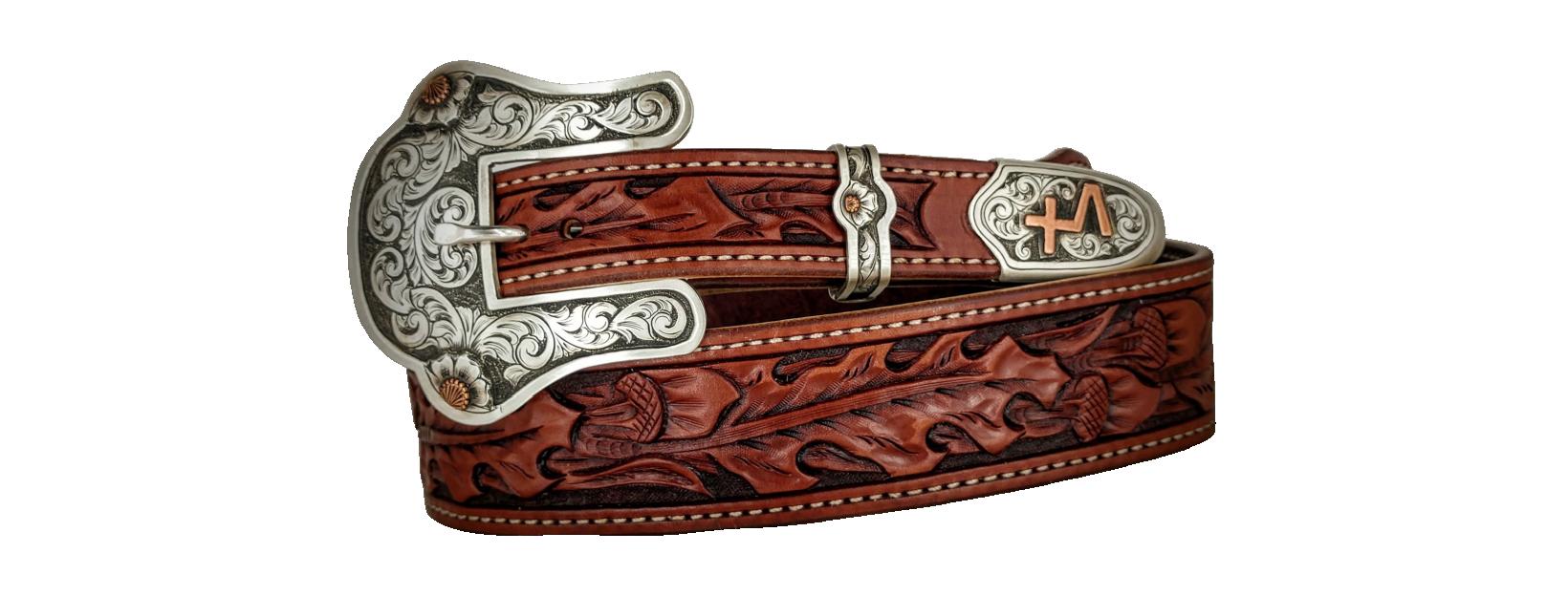 Vintage Tooled Leather JOE Name Belt  ~  Western Cowboy Belt  ~  New Old Stock