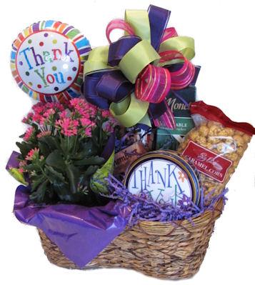appreciation thank you gift basket