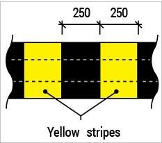 speed hump yellow stripe Malaysia