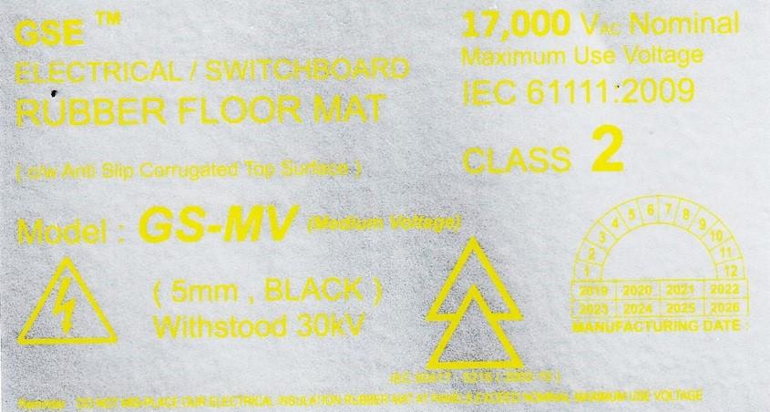 Medium Voltage Insulation Rubber Mat Malaysia