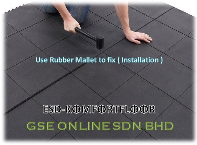 Installation of ESD Conductive Rubber Mat Malaysia