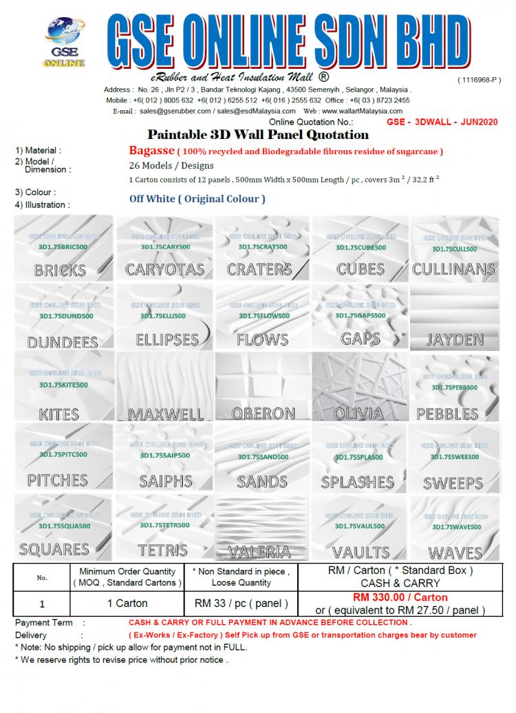 3d wall panel pricing Malaysia