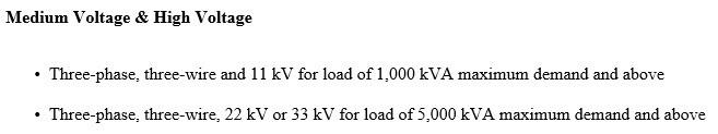 Medium voltage three phase