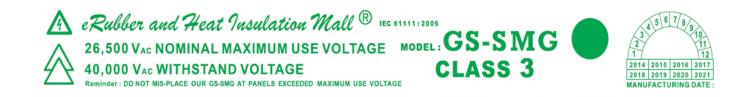 GS-SMG 40kV label