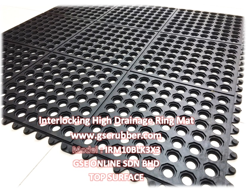 high drainage rubber ring mat malaysia