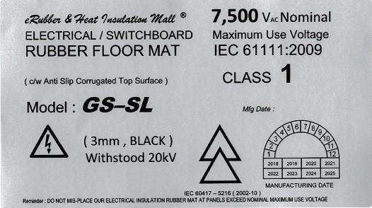 Medium Voltage Rubber Mat Label Malaysia