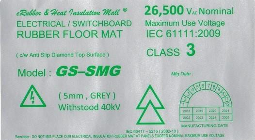 GS-SMG 40kv Label Malaysia