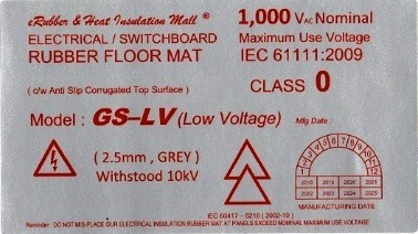 Low Voltage Rubber Mat Label Malaysia