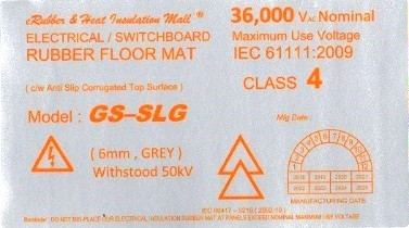 high voltage electrical rubber mat label Malaysia