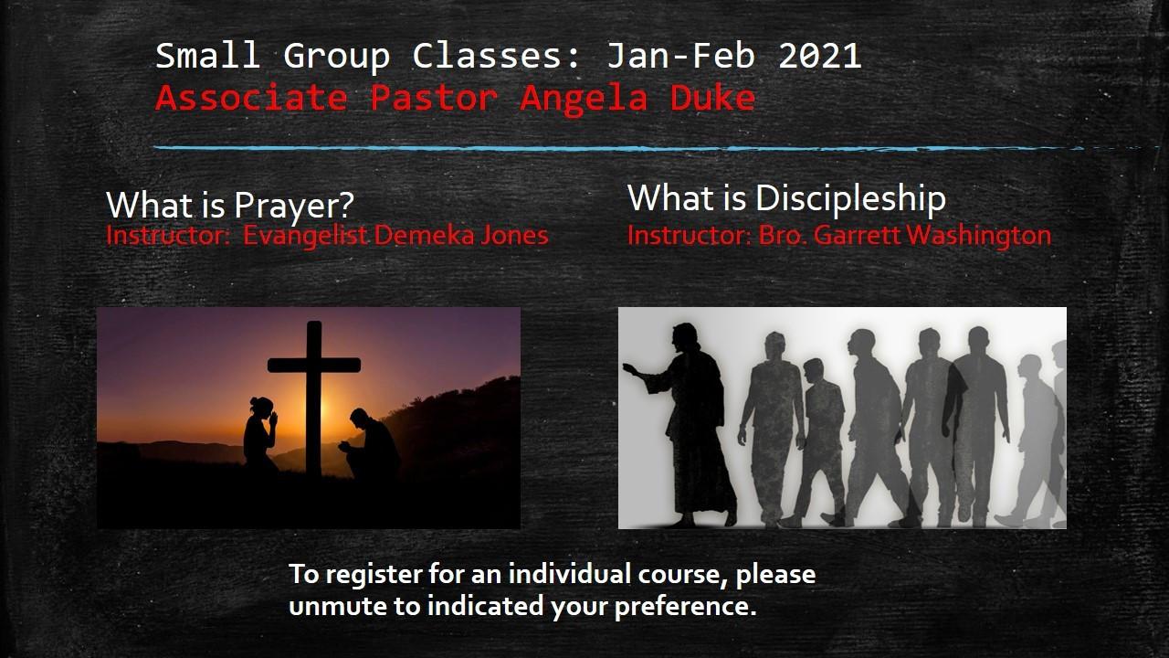 Spiritual Life Class small groups