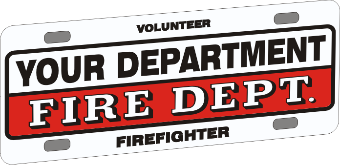 Universal Firefighter Vehicle Licence Plate - Traditional (NG-1021F)