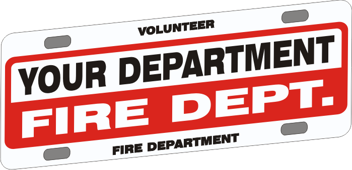 Universal Firefighter Vehicle Licence Plate - Budget (NG-1023F)
