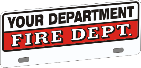 Upper Firefighter Vehicle Licence Plate - Traditional (NG-1027UF)