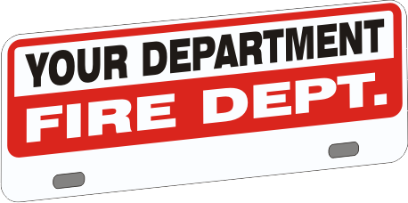 Upper Firefighter Vehicle Licence Plate - Budget (NG-1029UF)