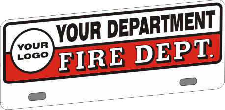 Upper Firefighter Vehicle Licence Plate - Traditional with Logo (NG-1030UF)