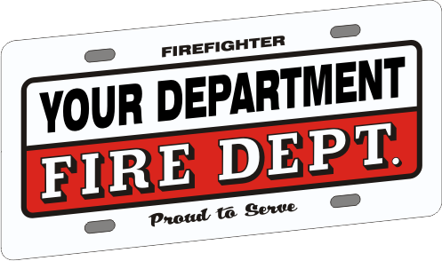 Full Size Firefighter Vehicle Licence Plate - Traditional (NG-1033F)
