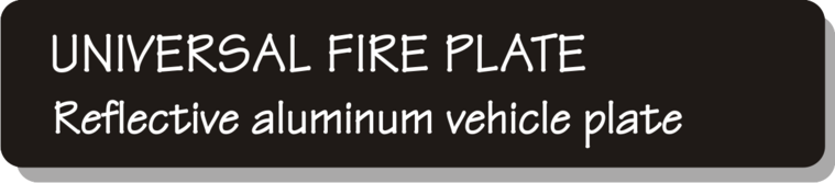 Universal Firefighter Vehicle Licence Plate - Reflective Aluminum Vehicle Plate
