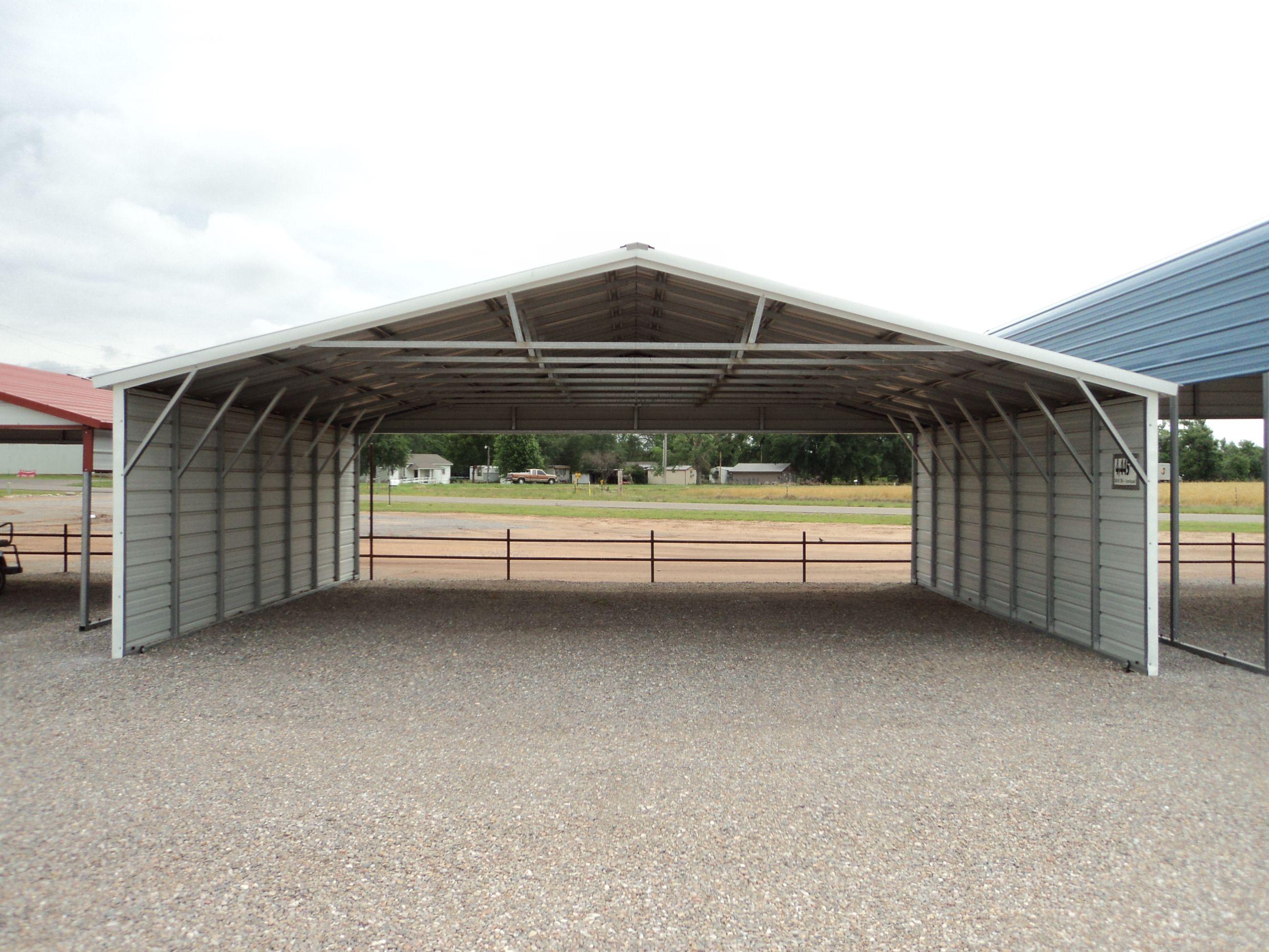 Vertical Roof Triple Wide Carport