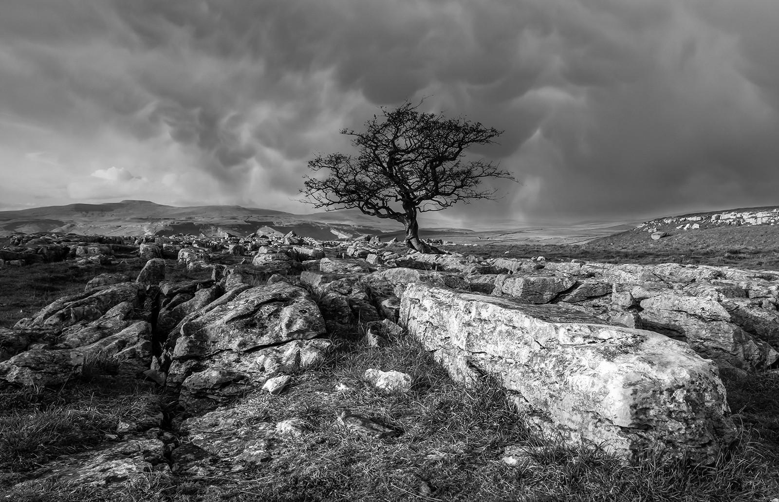 Stormy Skys over Winskill Stones