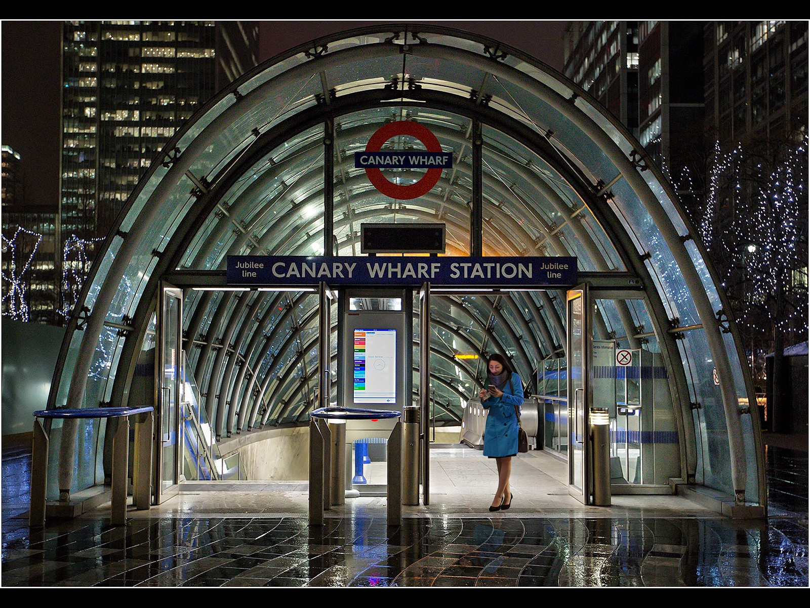 Rainy Night - Canary Wharf