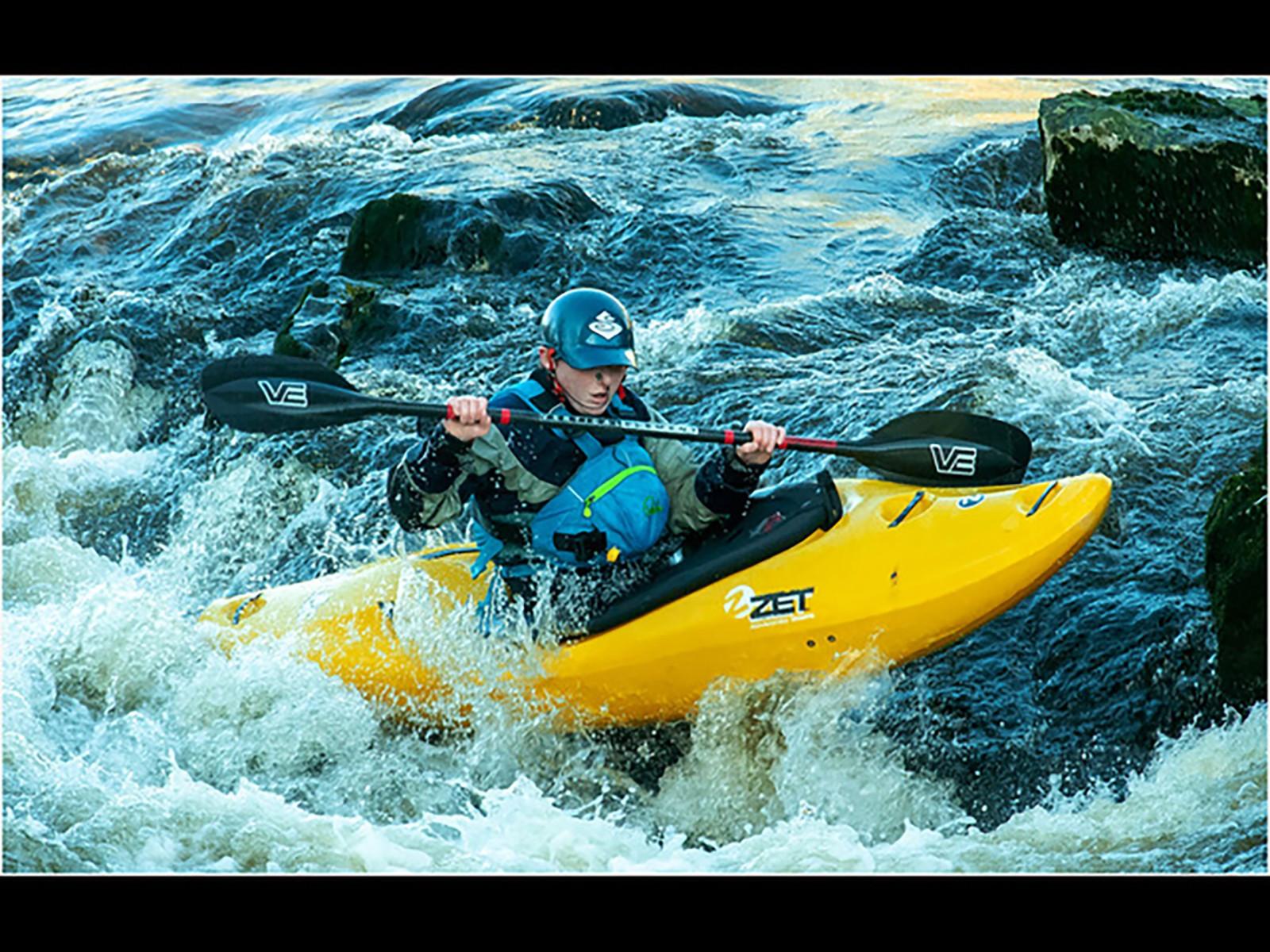 18.Canoeist on Linton Falls