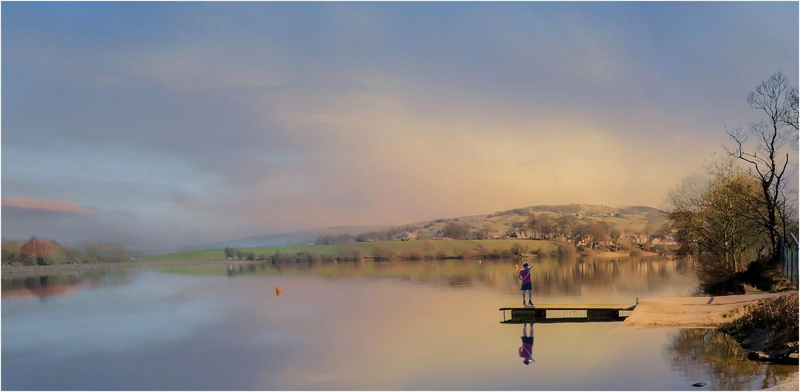 8. Morning light on  Fouldridge Reservoir.