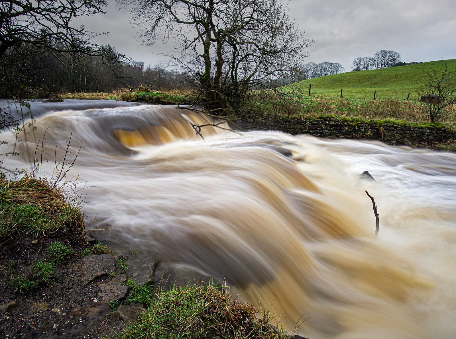 Rageing torrant on colne water. Lancashire