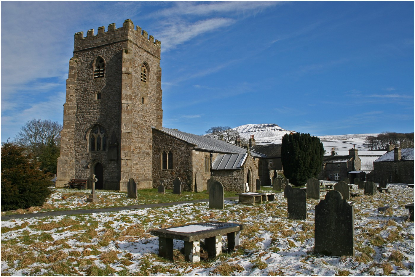 3.Pen-y-Ghent from Horton in Ribblesdale Church