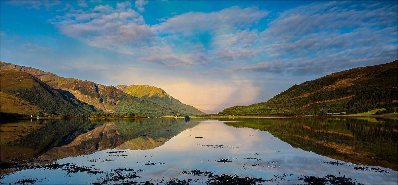 17. Morning light on Loch Leven Scotland.