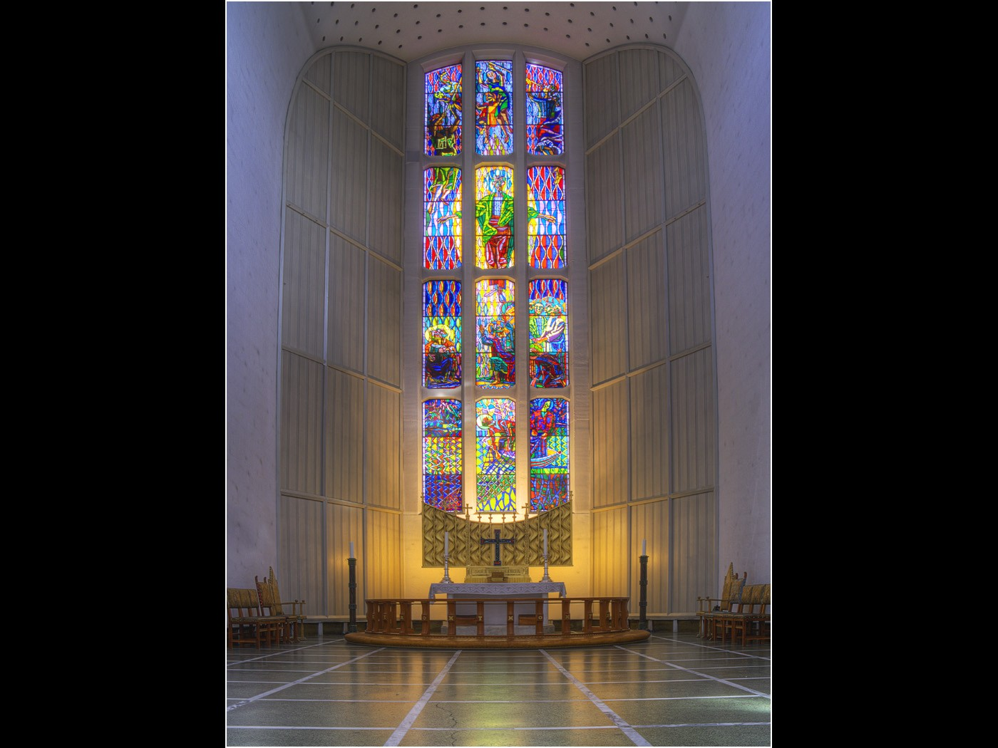Stained Glass Window,. Bodo Cathedral Norway