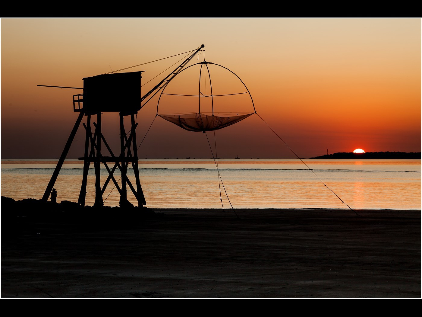 Sunset on the Fishing Hut
