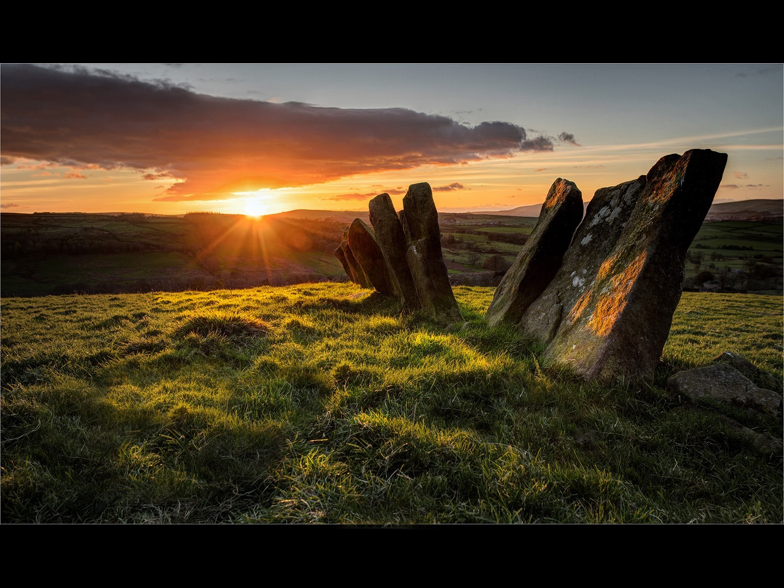 The Sunset on the Ancient Vaccary Walling above Wycoller copy