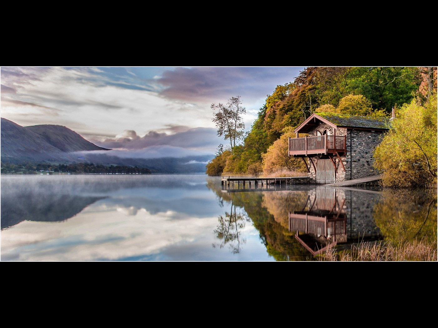 Dawn Ullswater Boathouse