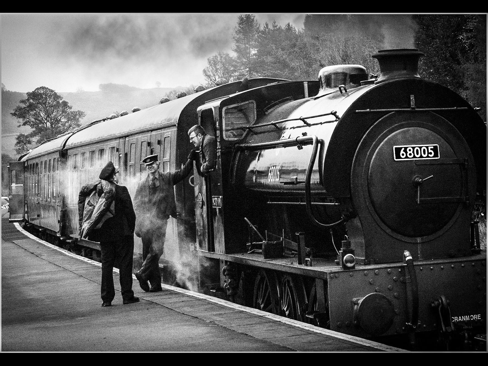 Railway men taking a Break