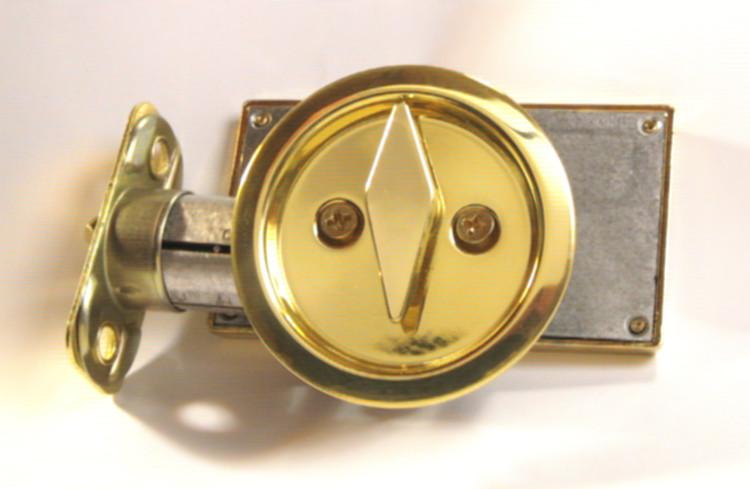 pocket door indicator lock