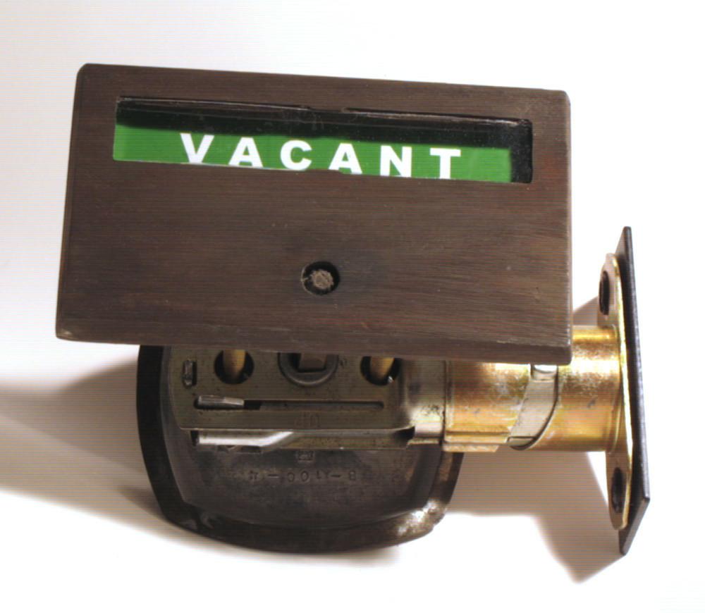 distressed brass door lock