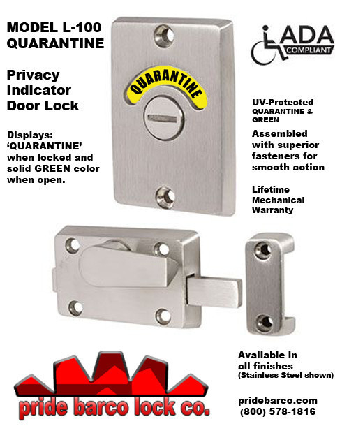 quarantine door lock