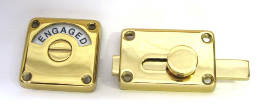 brass bathroom indicator lock