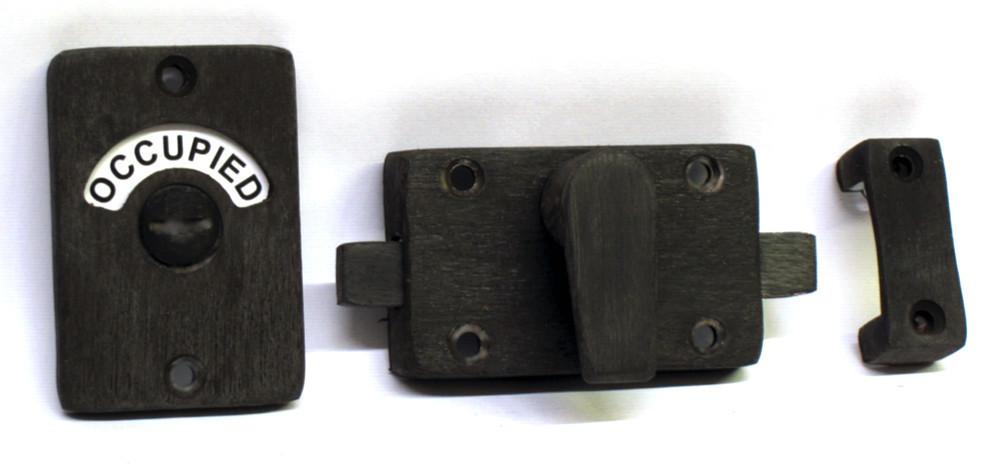 pewter black bathroom indicator lock
