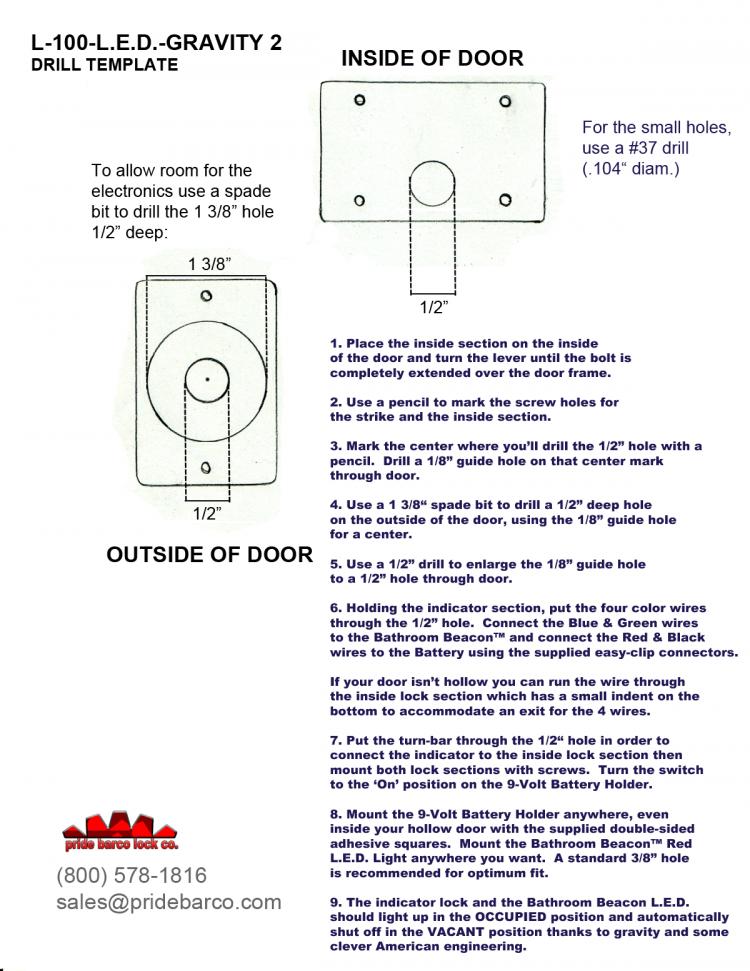 led bathroom indicator lock, pride barco led occupied