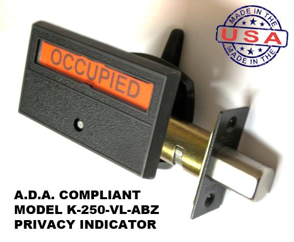 ADA Compliant Bronze Indicator Lock, Occupany Deadbolt indicator antique bronze