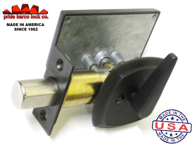 Occupancy Indicator Deadbolt, Privacy Bathroom Lock, Antique Bronze Privacy Lock