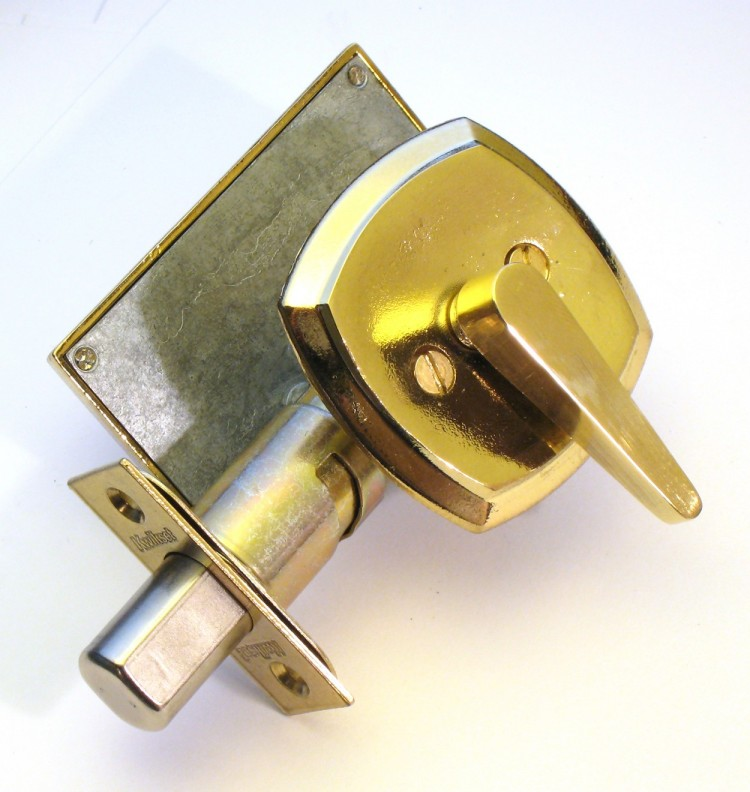 ada lever bathroom lock, privacy indicator lock, ada compliance, brass lever occupied lock
