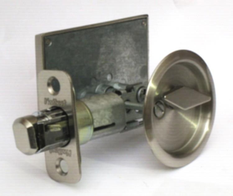 satin nickel privacy lock barn doors, pocket door indicator lock, occupied vacant barn door lock