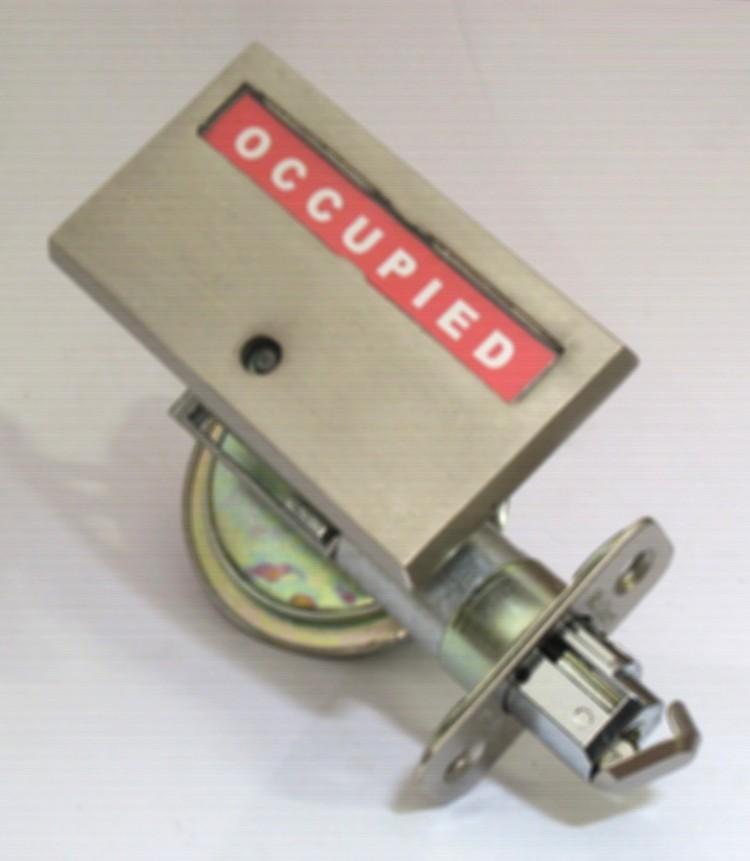 pocket door privacy indicator lock, barn door indicator lock, privacy deadbolt with indcator pocket door