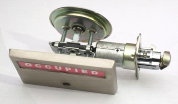 sliding pocket door indicator lock, pocket door privacy lock with occupied vacant, barn door indicator lock