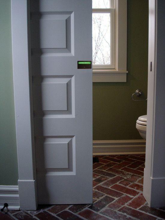 pocket door privacy lock, occupied vacant pocket door indicator, bathroom pocket door privacy lock