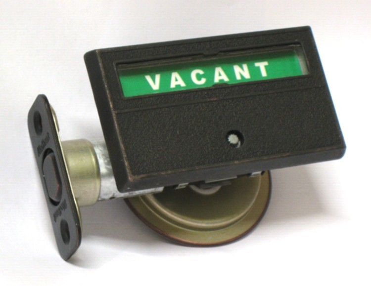 pocket door privacy lock, pocket door indicator deadbolt, occupied vacant pocket door lock