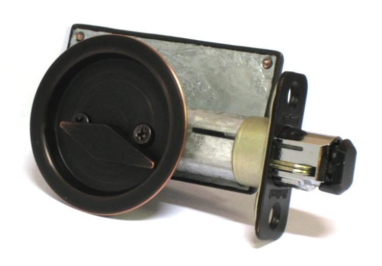 sliding pocket door indicator lock, privacy pocket door lock antique bronze, bathroom indicator lock